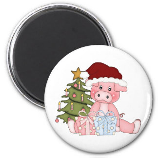 Pig & Christmas Tree Magnet