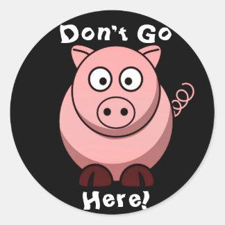 Pig Classic Round Sticker