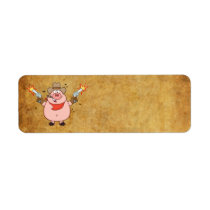 PIG COWBOY ADDRESS LABELS