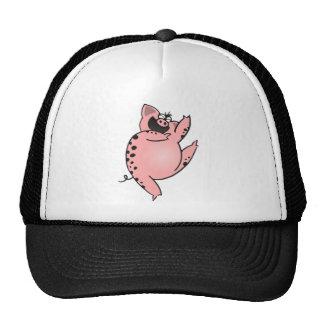 Pig   Crazy Pig Dancing   Crazy Cartoon Pig Trucker Hat