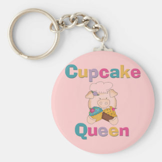 Pig Cupcake Queen T-shirts and Gifts Keychain