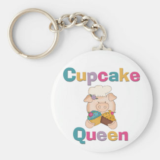 Pig Cupcake Queen T-shirts and Gifts Key Chain