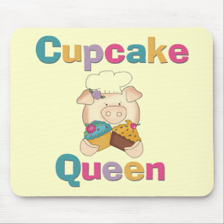 Pig Cupcake Queen T-shirts and Gifts Mousepad