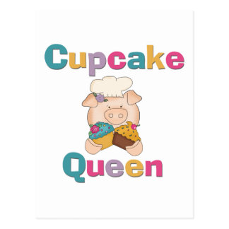 Pig Cupcake Queen T-shirts and Gifts Postcard