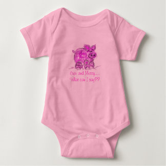pig-cute and messy... infant creeper