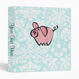 Pig; Cute Binder