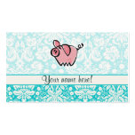 Pig; Cute Double-Sided Standard Business Cards (Pack Of 100)
