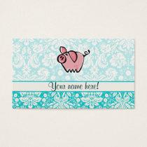 Pig; Cute Business Card