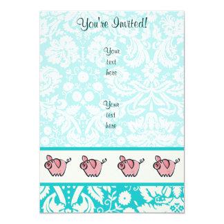 Pig; Cute Card
