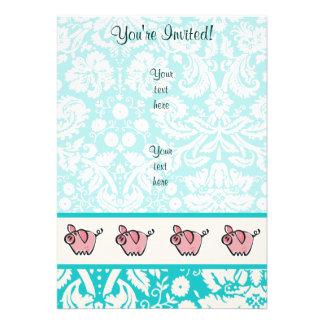 Pig; Cute Custom Invites