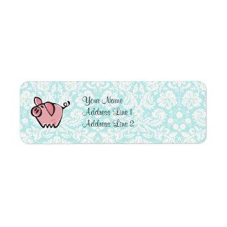 Pig; Cute Label