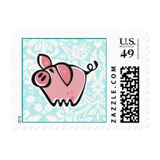 Pig; Cute Postage