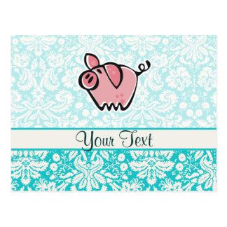 Pig; Cute Postcard