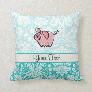 Pig; Cute Throw Pillow