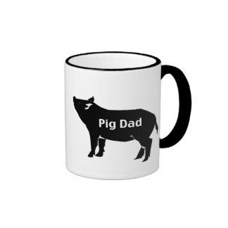 Pig Dad Ringer Coffee Mug