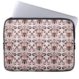 Pig Damask Pattern Laptop Sleeves