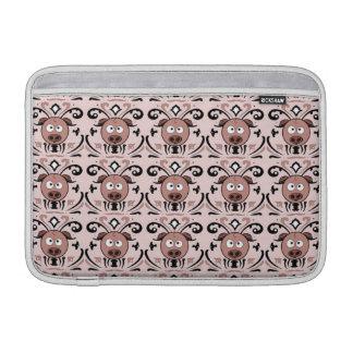 Pig Damask Pattern Sleeve For MacBook Air