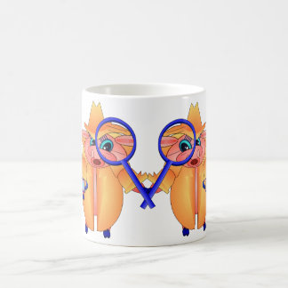 Pig Detectives ponder Classic White Coffee Mug