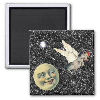 Pig Dreams 2 Inch Square Magnet