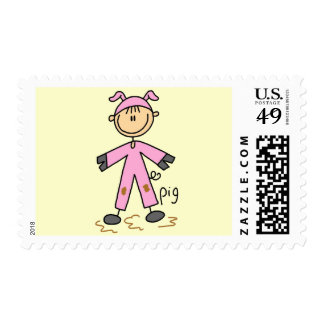 Pig Dress Up T-shirts and Gifts Stamps