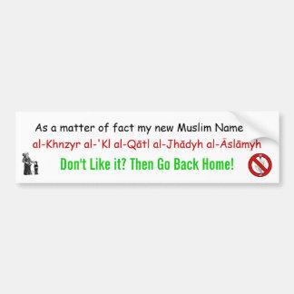 Pig-eating Jihadist eliminator Bumper Sticker
