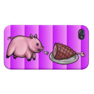 Pig Eats Ham Cases For iPhone 4