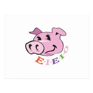 PIG EIEIO POSTCARD