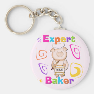 Pig Expert Baker Tshirts and Gifts Keychain