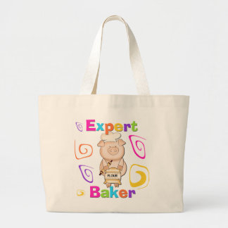 Pig Expert Baker Tshirts and Gifts Large Tote Bag