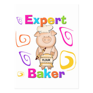 Pig Expert Baker Tshirts and Gifts Postcard