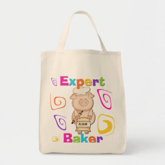 Pig Expert Baker Tshirts and Gifts Tote Bag