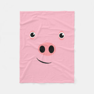 Pig Face Fleece Blanket