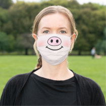 Pig Face Fun Funny Cute Cartoon Adult Cloth Face Mask
