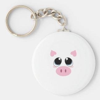 Pig Face Keychain