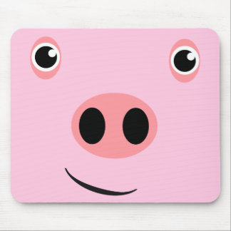 Pig Face Mouse Pad