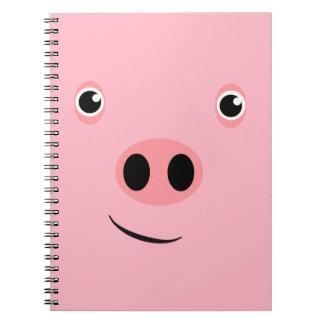 Pig Face Spiral Note Book