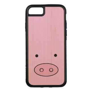 Pig Face, Pig Nose, Pig Snout, Little Piggy - Pink Carved iPhone 7 Case