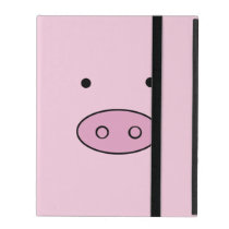Pig Face, Pig Nose, Pig Snout, Little Piggy - Pink iPad Case