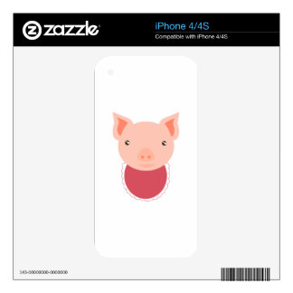 Pig Face Decals For iPhone 4S