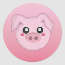 Pig Face Sticker
