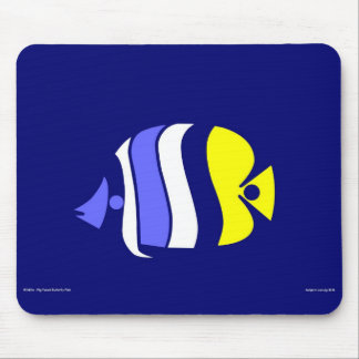 Pig Faced Butterfly Fish Mouse Pad