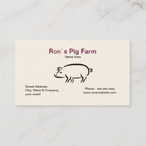 Pig Farm Business Card
