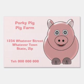 Pig Farm Custom Lawn Sign