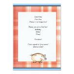 Pig farm party invitation