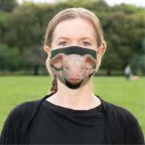 Pig farm - pig face adult cloth face mask