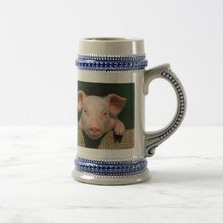 Pig farm - pig face beer stein
