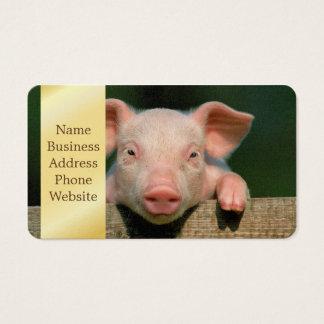 Pig farm - pig face business card