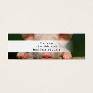 Pig farm - pig face mini business card