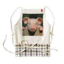Pig farm - pig face zazzle HEART apron