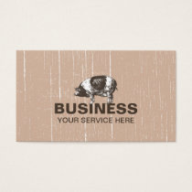 Pig Farm Rustic Cream Business Card